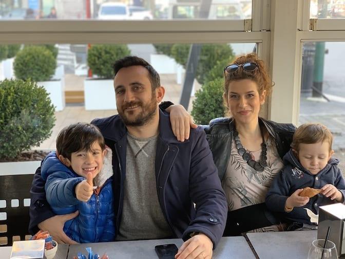 giovane papà, Daniele Marzano e famiglia