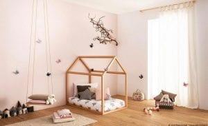 Modello casetta di lettini Montessori