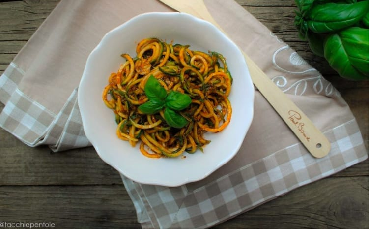 Zoodles, noodles di zucchine