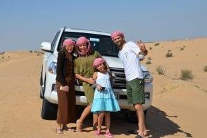 Dubai in famiglia, deserto