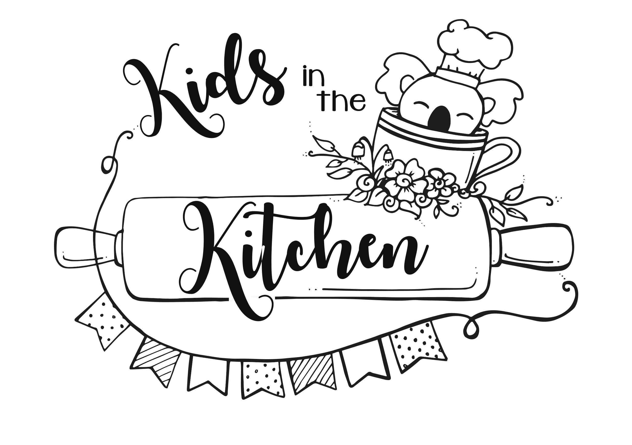 Kids int he kitchen